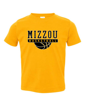 Mizzou Kids Gold Basketball T-Shirt