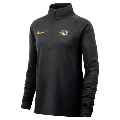 Mizzou Nike® 2018 Juniors' Black 1/4 Zip Shirt