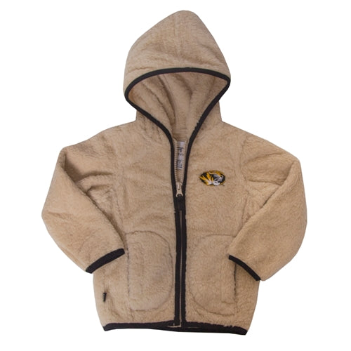 Mizzou Toddler Cream Sherpa Full Zip Hoodie