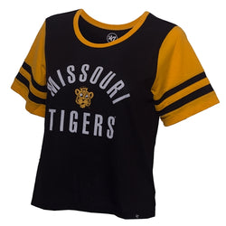 Missouri Tigers Juniors' Black and Gold Crew Neck T-Shirt