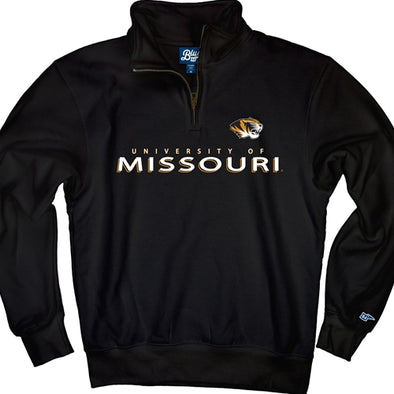 University of Missouri Black 1/4 Zip Sweatshirt