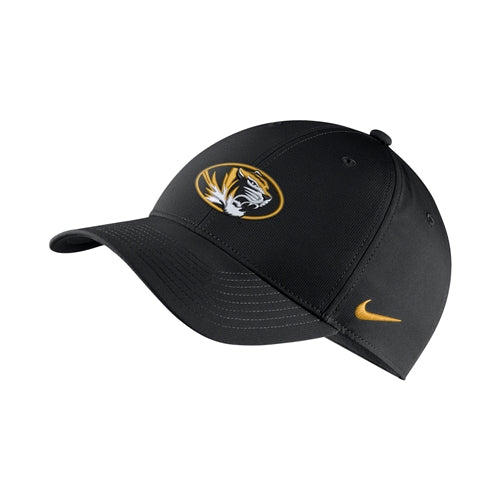 Mizzou Nike® 2018 Oval Tiger Head Black Adjustable Hat ... 67f773c4f808