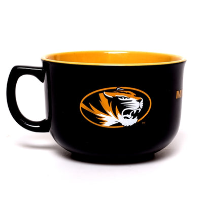Mizzou Oval Tiger Head Black & Gold Mug