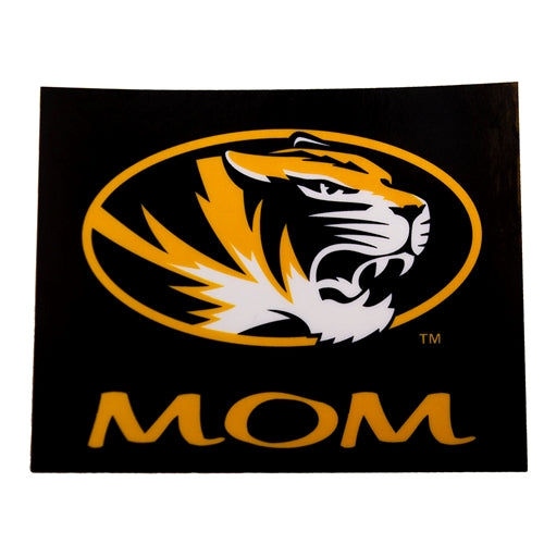 Mizzou Oval Tiger Head Mom Decal