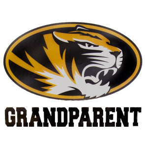 Mizzou Oval Tiger Head Grandparent Decal
