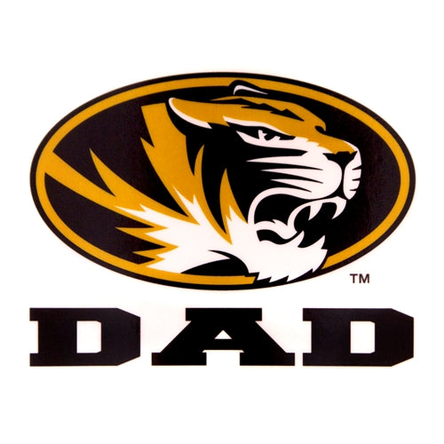 Mizzou Dad Oval Tiger Head Decal