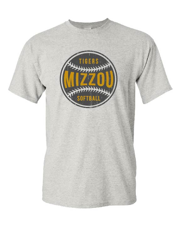 Mizzou 2018 Tigers Softball Grey T-Shirt