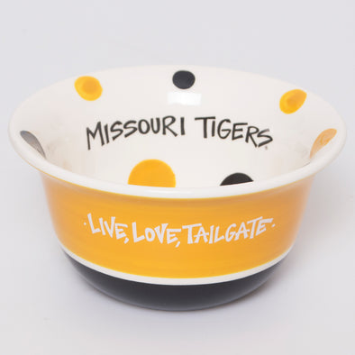 Missouri Tigers Live, Love, Tailgate Black & Gold Bowl
