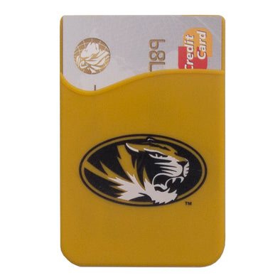 Mizzou Oval Tiger Head Assorted Silicone Phone Wallet