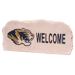 Mizzou Tiger Head Welcome Garden Stone