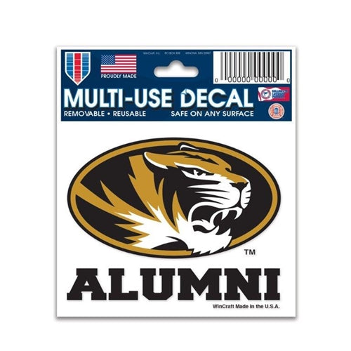 Mizzou Alumni Oval Tiger Head Decal