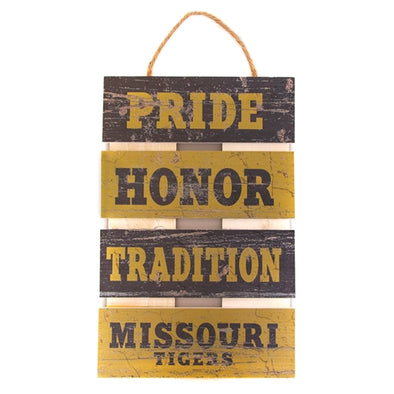 Missouri Tigers Black & Gold Hanging Ladder Wooden Sign