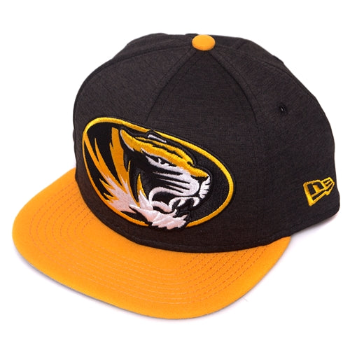 Mizzou Kids' Oval Tiger Head Snapback with Gold Bill
