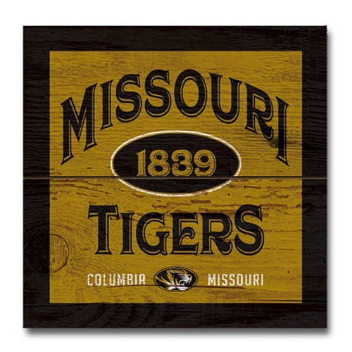 Missouri Tigers Wood Plank Magnet