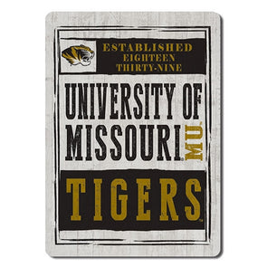 University of Missouri Tigers Wood Plank Magnet