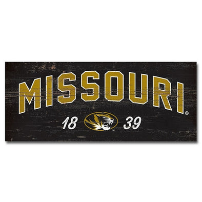 Missouri Oval Tiger Head Wood Display Board
