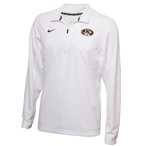 Mizzou Nike® 2018 Oval Tiger Head White 1/4 Zip Sweatshirt