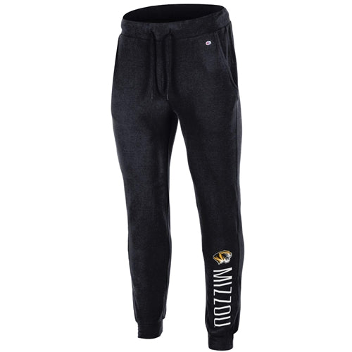Mizzou Juniors' Tiger Head Black Closed Bottom Pants