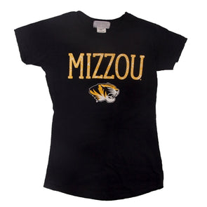 Mizzou Toddler Tiger Head Black Crew Neck T-Shirt