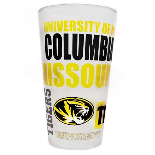 Mizzou Multi-Logo Frosted Pint Glass