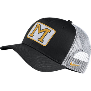 Mizzou Nike® 2019 Trucker Mesh Block M Patch Snap Back Hat