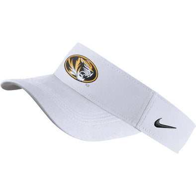 Mizzou Nike® 2019 Oval Tiger Head White Dri-Fit Visor