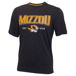 Mizzou Tiger Head Black & Gold Athletic T-Shirt