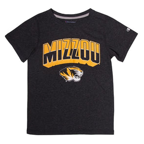 Mizzou Black and Gold Tiger Head Youth T-Shirt