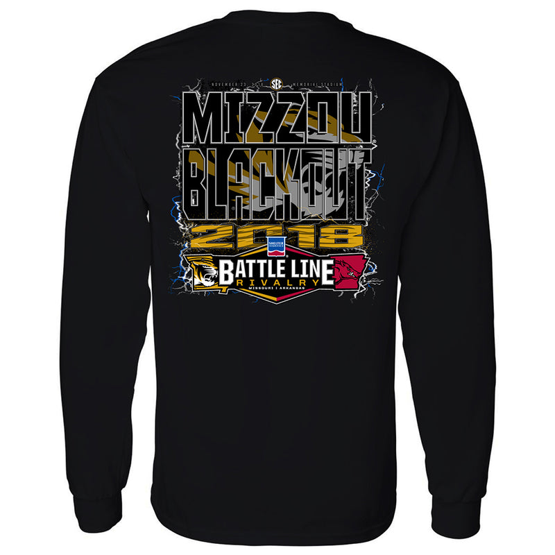 Missouri Tigers vs Arkansas 2018 Blackout Official Game Day Shirt