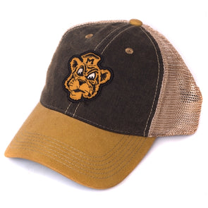 Mizzou Vintage Tiger Faded Black & Gold Trucker Hat