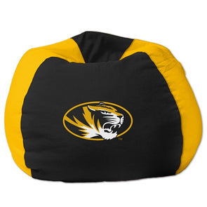 Mizzou Oval Tiger Head Black & Gold Bean Bag