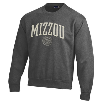 Mizzou Official Seal Charcoal Crew Neck Sweatshirt