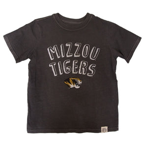 Mizzou Tigers Kids' Black Crew Neck T-Shirt