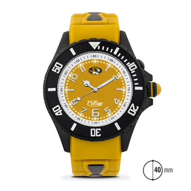 Mizzou Women's 40 MM Silicone Oval Tiger Head Watch