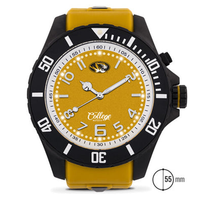 Mizzou Oval Tiger Head 55MM Silicone Band Men's Watch