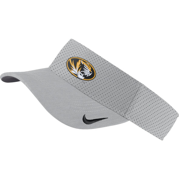 Mizzou Nike® 2019 Team Issue Oval Tiger Head Grey Visor