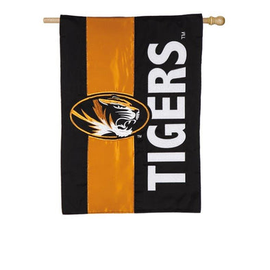 Mizzou Embellished Oval Tiger Head Tigers Flag