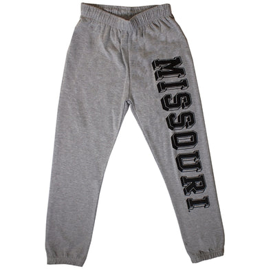 Mizzou Comfort Fleece Grey Giant Leg Print Sweat pant