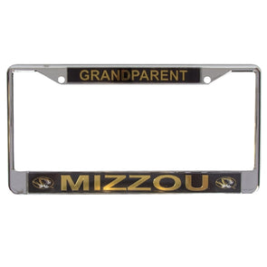 Mizzou Grandparent License Plate Frame