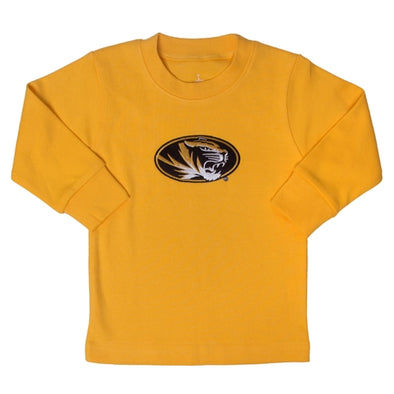 Mizzou Infant/Toddler Oval Tiger Head Gold Longs Sleeve T-Shirt