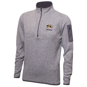 Mizzou Antigua 1/4 Zip Grey Sweatshirt