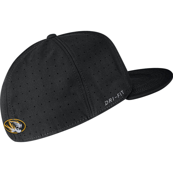Mizzou Nike® 2020 On the Field Replica Fitted Baseball Black Tonal Hat