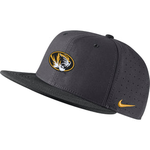 Mizzou Nike® 2020 On the  Field Oval Tiger Head Baseball Replica Fitted Hat