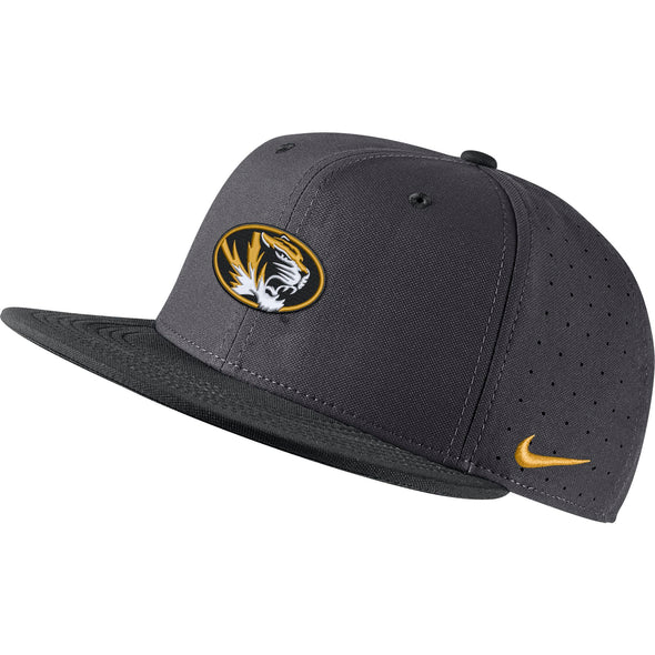Mizzou Nike® 2020 On the  Field Oval Tiger Head Black and Grey Baseball Replica Fitted Hat
