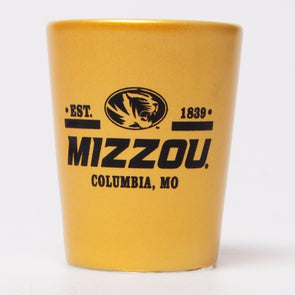 Mizzou Gold Oval Tiger Head Shot Glass