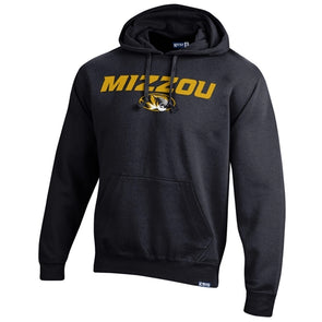 Mizzou Oval Tiger Head Black Hoodie