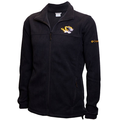 Mizzou Tiger Head Columbia Black Fleece Jacket