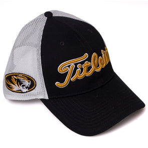 Mizzou Titleist Oval Tiger Head Black Adjustable Hat