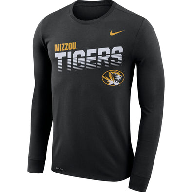 Mizzou Nike® 2019 Sideline Oval Tiger Head Tigers Long Sleeve Grey T-Shirt