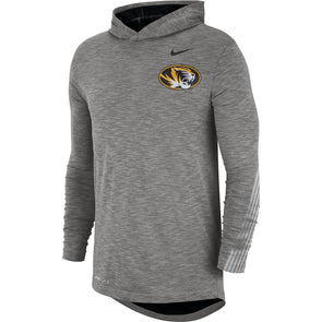 Mizzou Nike® 2019 Oval Tiger Head Sideline Long Sleeve Grey Hoodie